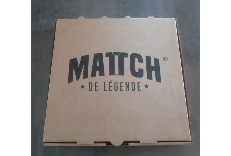 packaging pour la réception de votre commande match de légende